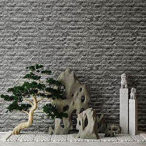 現代園林景觀模型3d模型