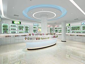 現代化妝品展廳模型3d模型