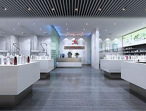 現代化妝品專賣店模型3d模型