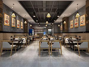 現代小餐廳模型3d模型