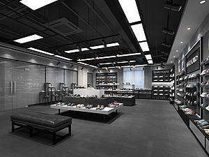 現代鞋子專賣店模型3d模型