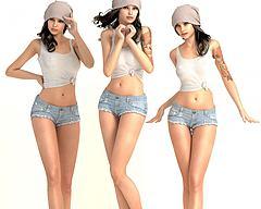 模特人物3D模型