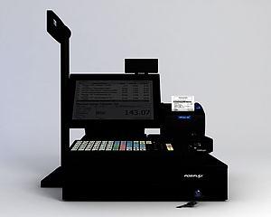 超市收银机模型3d模型
