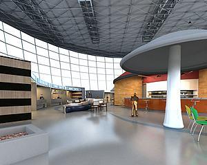 體育館模型3d模型