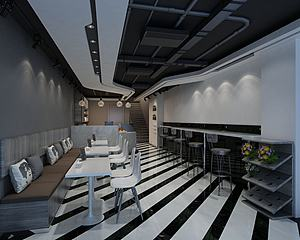 民茶店模型3d模型