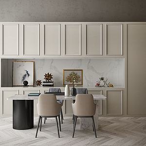 现代开放式厨房模型3d模型