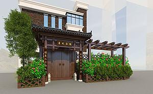 別墅門樓模型3d模型