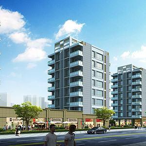 商业住宅3d模型