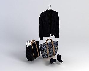衣服女士背包模型3d模型