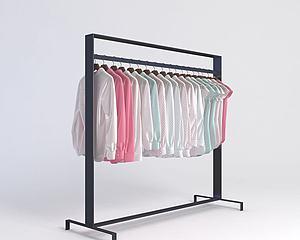 服裝店衣架模型3d模型