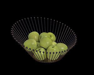 蘋果籃模型3d模型