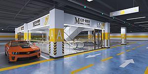 地下車庫模型3d模型