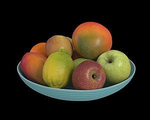 水果蘋果檸檬模型3d模型