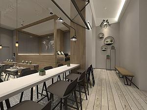 現代經典餐廳模型3d模型