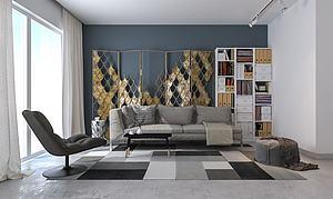 单身公寓模型3d模型