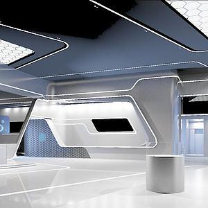 現代科技展廳3d模型