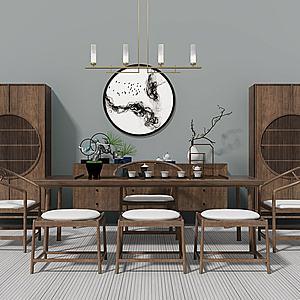 茶桌椅3d模型