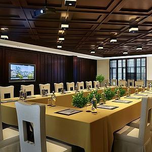 餐厅空间93d模型