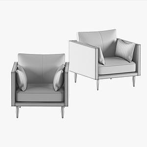 現代休閑單人沙發3d模型