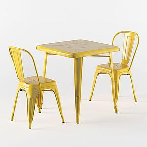 現代休閑桌椅簡單款3d模型