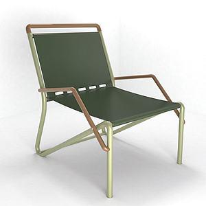 現代休閑綠單椅3d模型