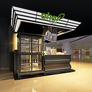 冷饮甜品小吃店3d模型