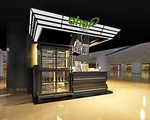 冷飲甜品小吃店模型3d模型
