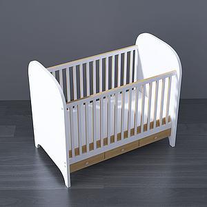现代婴儿床3d模型