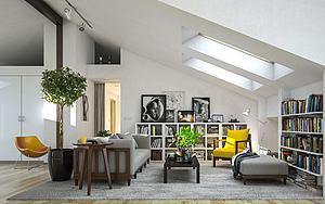 阁楼起居室模型3d模型