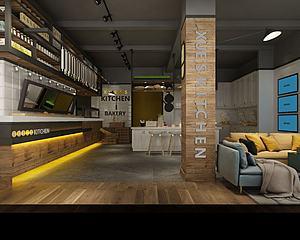 咖啡廳模型3d模型