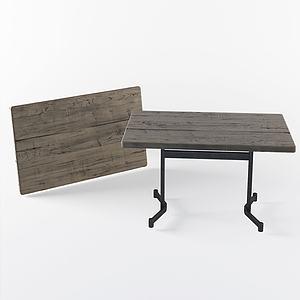 现代?#30340;?#31616;约方桌3d模型