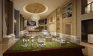 地產銷售中心大廳模型3d模型