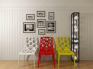 現代休閑坐椅模型3d模型