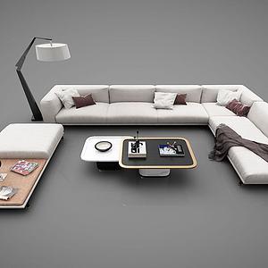 现代风格沙发茶几3d模型