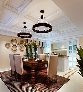餐廳空間4模型3d模型