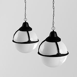 現代燈泡吊燈模型3d模型