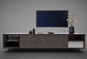 電視柜邊柜模型3d模型