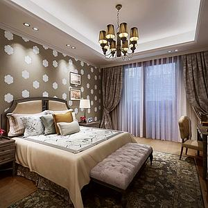 臥室空間3d模型