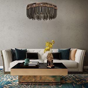家具饰品组合休闲沙发3d模型