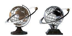 現代地球雕塑模型3d模型