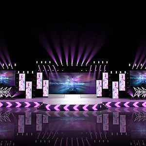 現代電子音樂舞臺3d模型