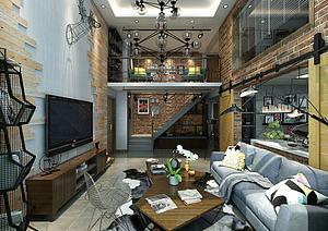 北欧风格客厅模型3d模型