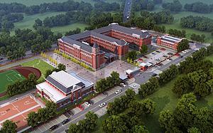歐式學校模型3d模型
