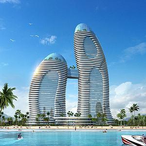 現代酒店3d模型