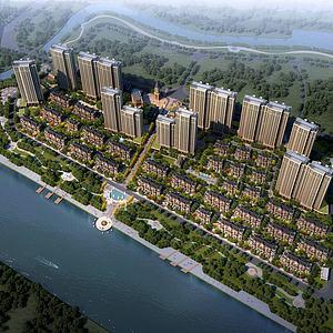 歐式住宅小區3d模型