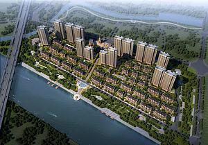 歐式住宅小區模型3d模型