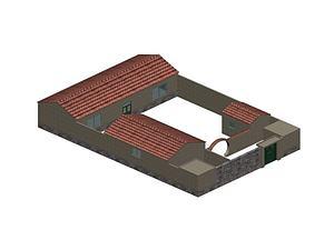 小院模型3d模型