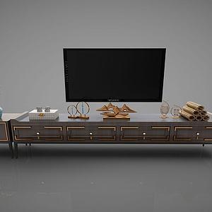 电视柜及电视3d模型