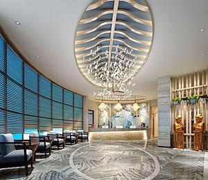酒店大堂模型3d模型