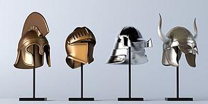 歐式騎兵頭盔戰盔模型3d模型